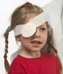 Picture of a girl with an eye patch