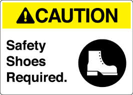 Safety Shoes required for cleaning