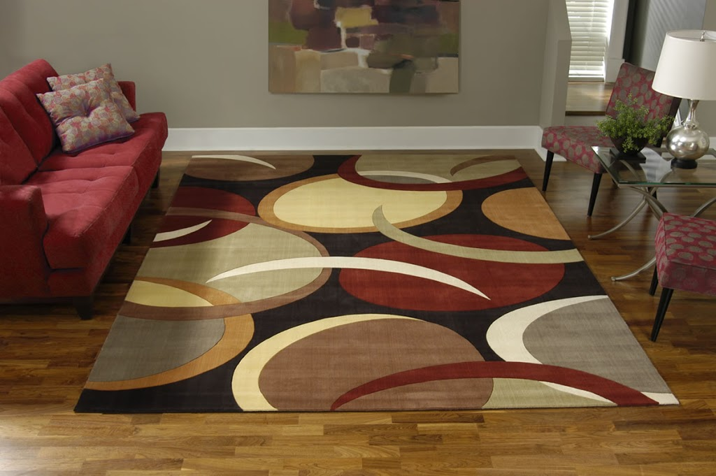 Area rug in a living room