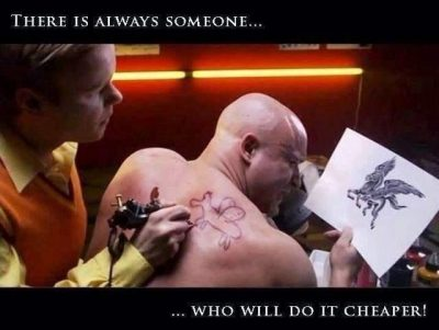 The people that will do it cheaper