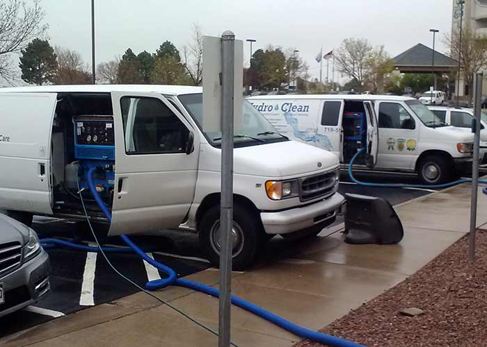Truck mount carpet cleaning