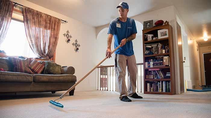Carpet grooming after scotchgard