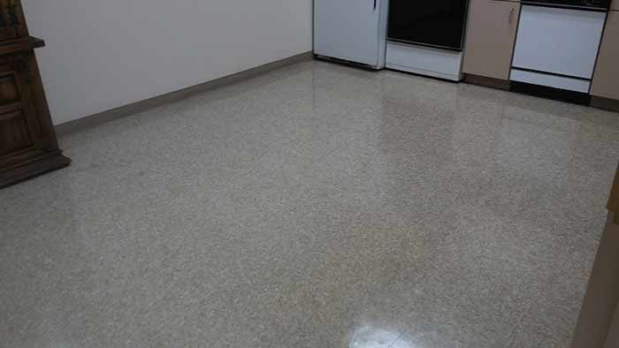 VCT cleaning after
